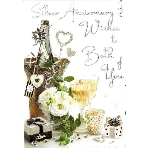 Both of You Silver Anniversary Card