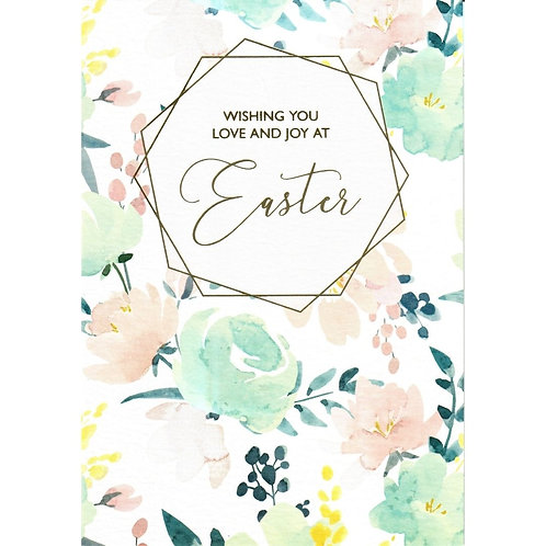 Watercolour Flowers Easter Card