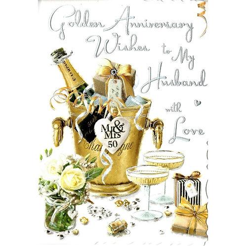HUSBAND Golden Anniversary Card