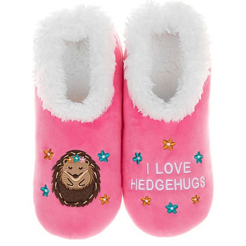 I Love Hedgehugs Slippers