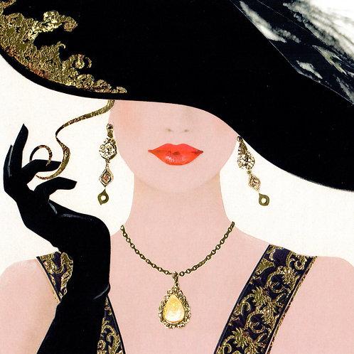Lady Jewellery Card