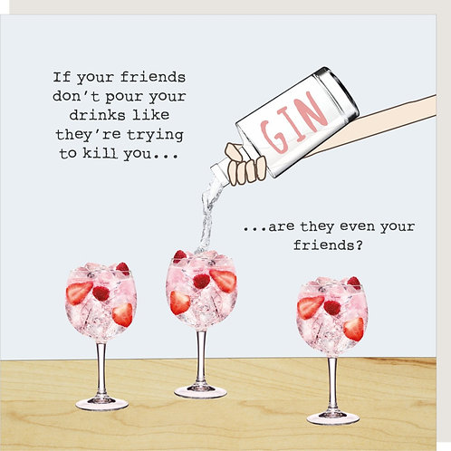 Friends Pouring Card