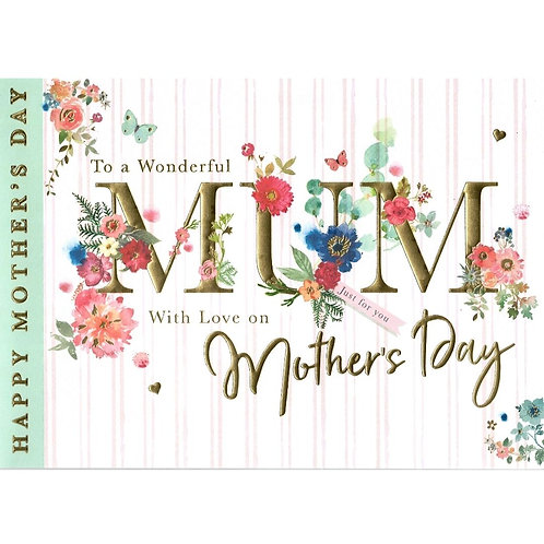 Horizontal Flowers Mother's Day Card