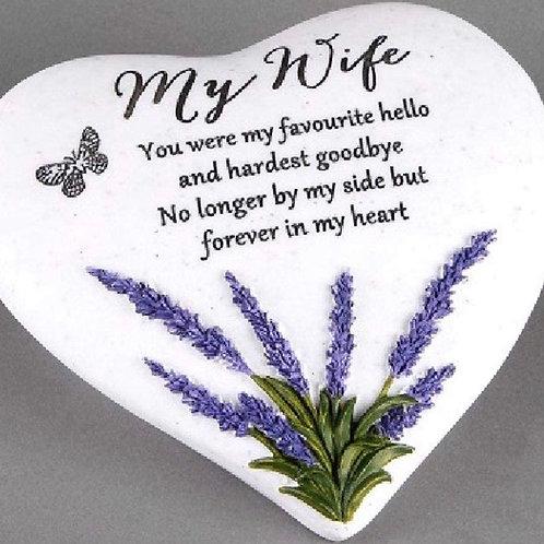 Wife Outdoor Memorial Plaque