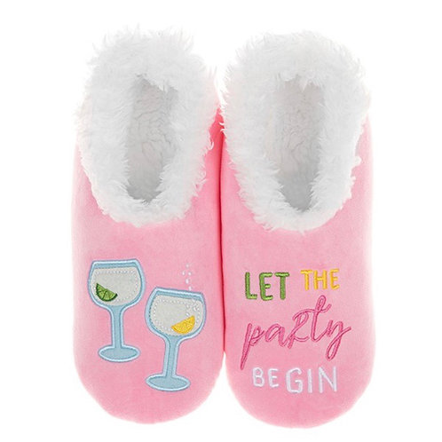 Let the Party Be-Gin Slippers