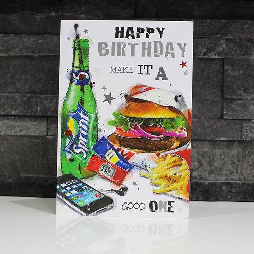 Fast Food Birthday Card