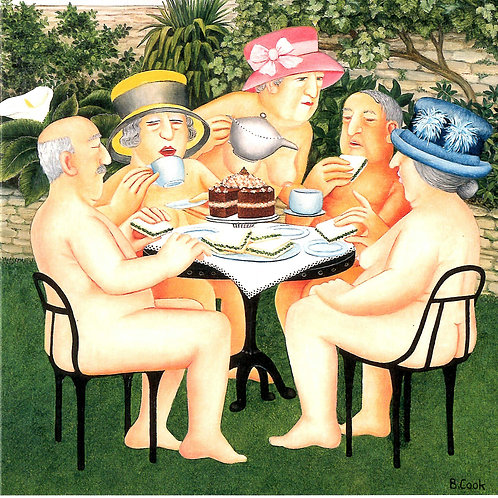 Naked Tea Party Card
