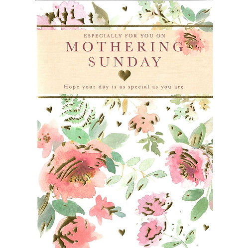 Flowers Mothering Sunday Card