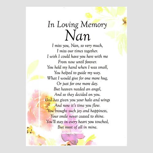 Nan Grave Card