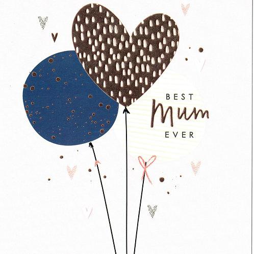 Best Mum Balloon Mother's Day Card