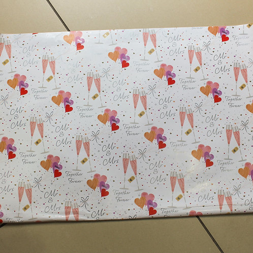 Mr and Mrs Wrapping Paper