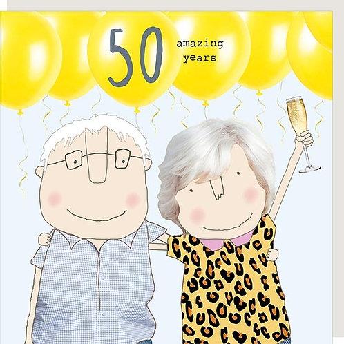 50 Amazing Years Anniversary Card