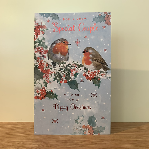 Special Couple Robins Card