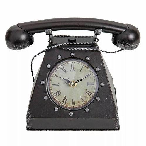 Black Telephone Mantel Clock