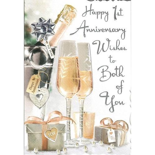 1st Anniversary Card