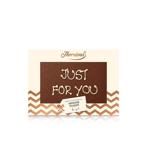 Personalised Milk Chocolate Message Plaque