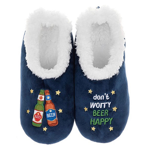 Don't Worry Beer Happy Slippers