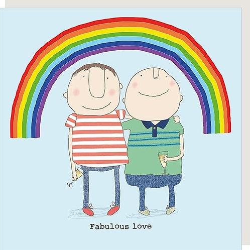 Fabulous Love Male Card