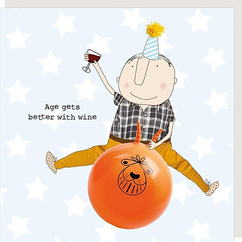 Age With Wine Birthday Card