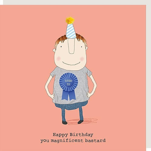 Magnificent B*stard Birthday Card