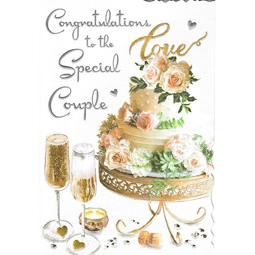 Special Couple Cake & Fizz Anniversary Card