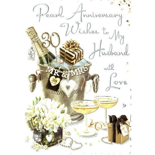 HUSBAND Pearl Anniversary Card
