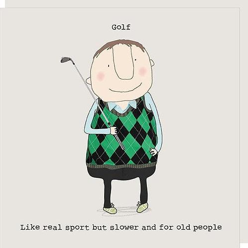 Slower Sport for Older People Card