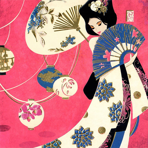 Asian Style Lady Card
