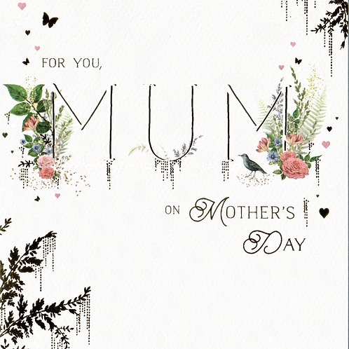 Mum Type Mother's Day Card Card