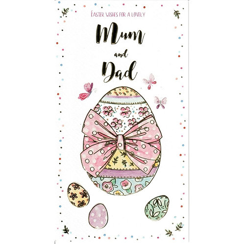 Mum and Dad Easter Card