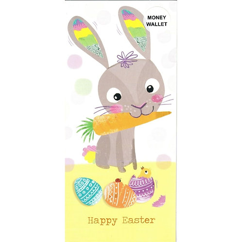 Bunny with Carrot Easter Money Wallet