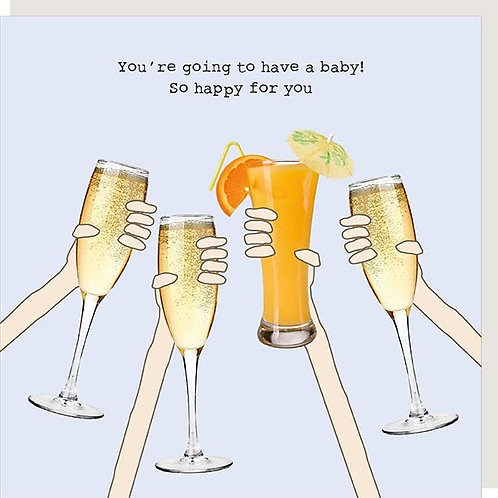 Pregnant Cheers Card