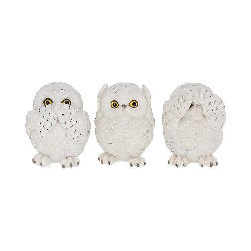 Three Wise Owls (8cm)