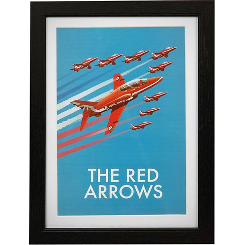 Red Arrows A4 Framed Print