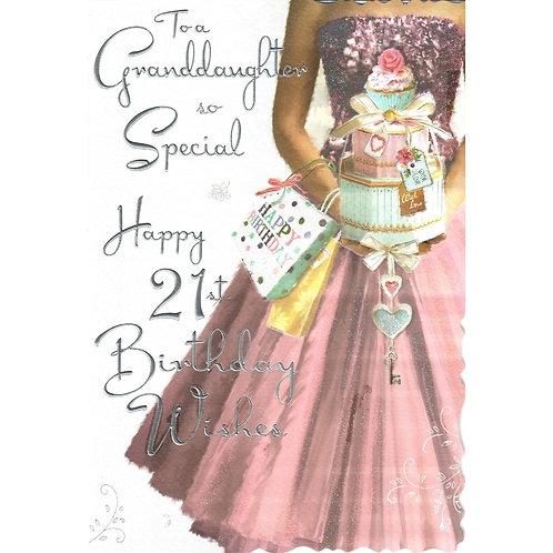 GRANDDAUGHTER 21st Birthday Card