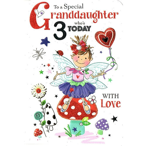 GRANDDAUGHTER 3rd Birthday Card