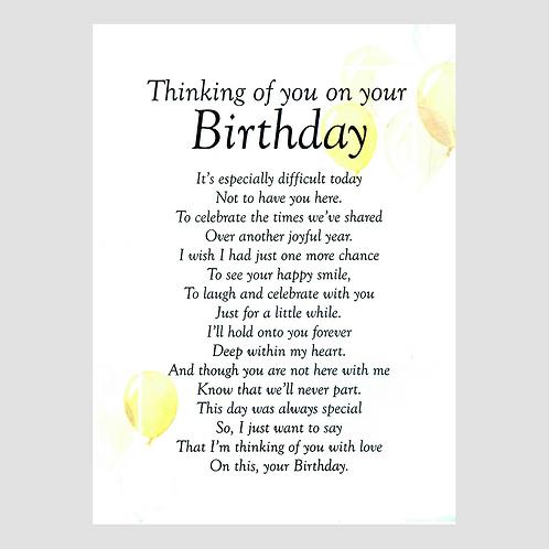 Birthday Grave Card