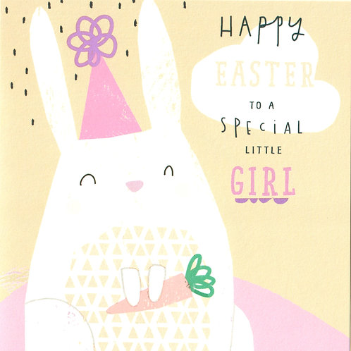 Special Little Girl Easter Card