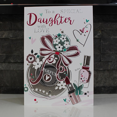 Daughter Perfume Birthday Card