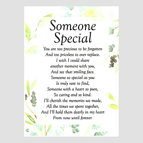 Someone Special Grave Card