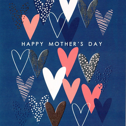 Hearts Mother's Day Card Card