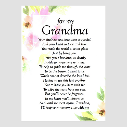 Grandma Grave Card