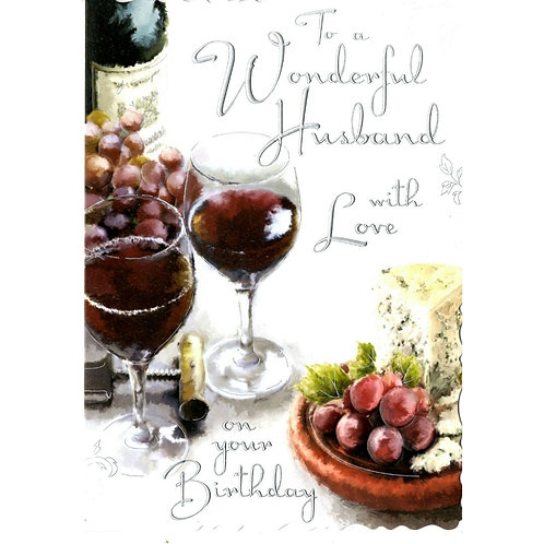 Large HUSBAND Birthday Card