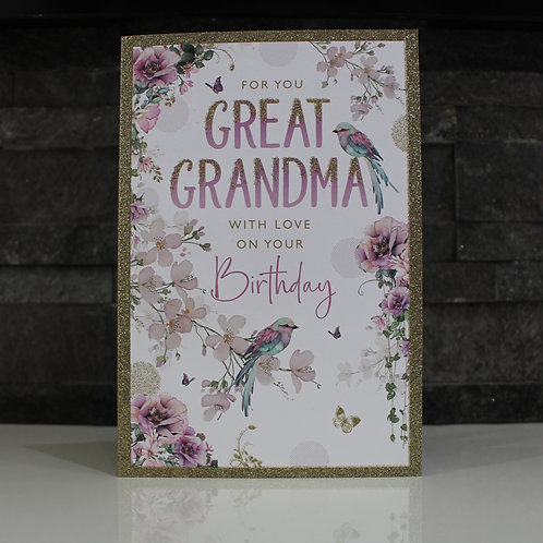 GREAT GRANDMA Birthday Card