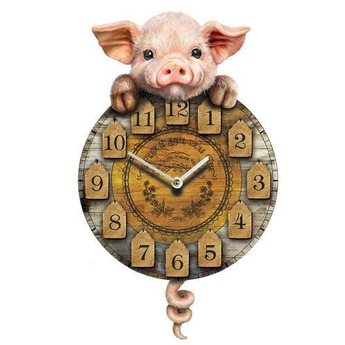 Piggin Tickin Clock