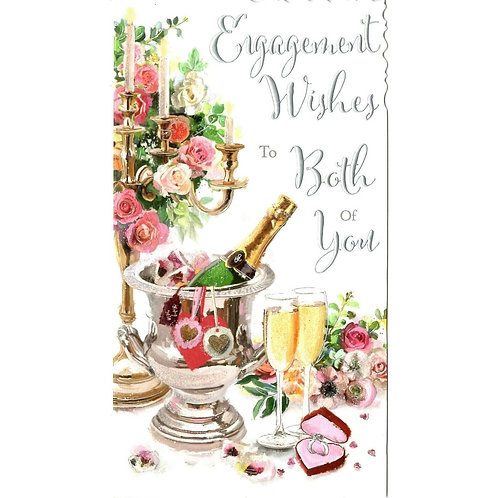 Champagne Engagement Card