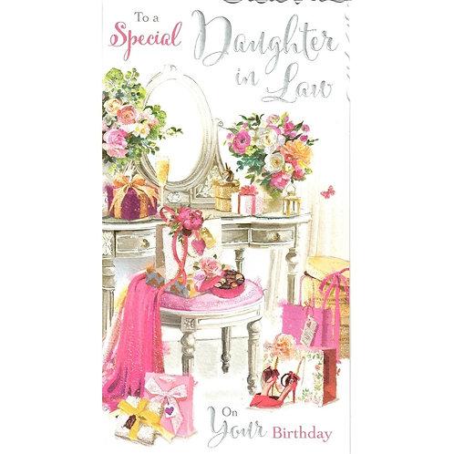 Daughter in Law Vanity Birthday Card