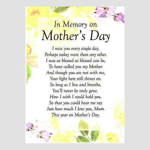 Mother's Day Grave Card