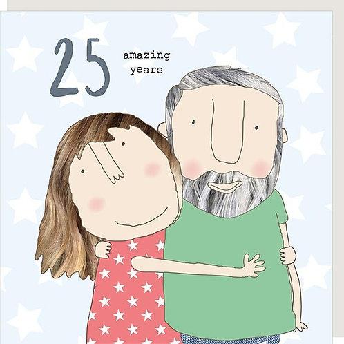 25 Amazing Years Anniversary Card