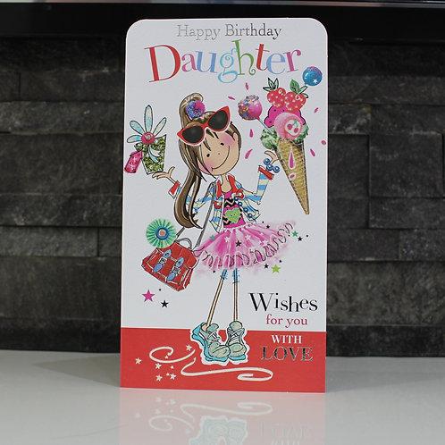 Daughter Cartoon Birthday Card